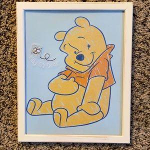 Hand framed Winnie the Pooh Bear Design